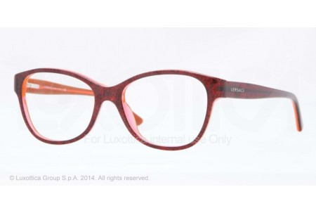 Versace  0VE3188 5089 BAROQUE BORD TR/ORANGE TR